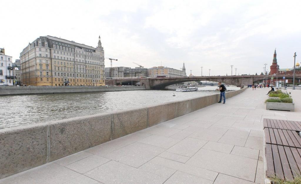 Работы по благоустройству стартовали на Садовнической набережной. Фото: сайт мэра Москвы